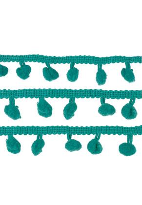 www.sayila.es - Cinta decorativa de textil con pompones