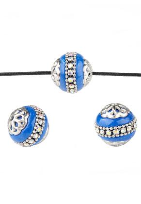 www.sayila.com - Metal Kashmiri beads with polymer clay 17x16mm