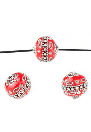 www.sayila.com - Metal Kashmiri beads with polymer clay 20mm