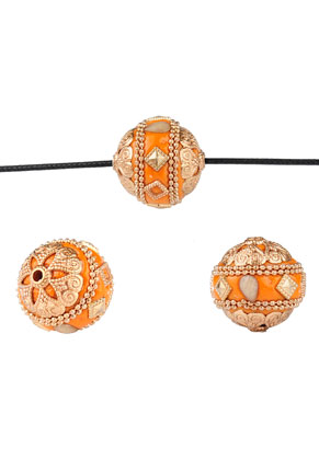 www.sayila.nl - Metalen Kashmiri kralen met polymeerklei 20mm