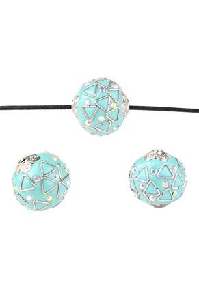 www.sayila-perlen.de - Polymerton Kashmiri Perlen mit metall 20mm