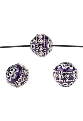 www.sayila-perlen.de - Polymerton Kashmiri Perle 20-21x18-19mm