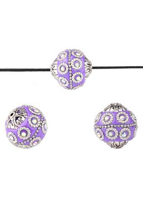www.sayila.be - Metalen Kashmiri kralen met polymeerklei 20mm