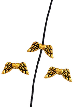www.sayila.com - Metal beads wings 19x8mm