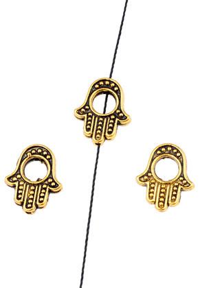 www.sayila.nl - Metalen kralen hand van Fatima 15x13mm