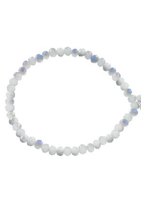 www.sayila.nl - Glaskralen kristal rondel facet geslepen 4x3mm (± 135 st.)