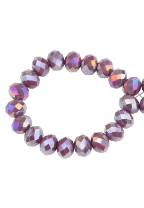 www.sayila.com - Glass beads roundel faceted 8x6mm (± 60 pcs.)
