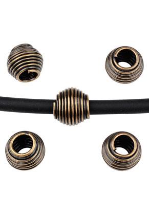 www.sayila.nl - Groot-gat-style metalen kralen 12x11mm