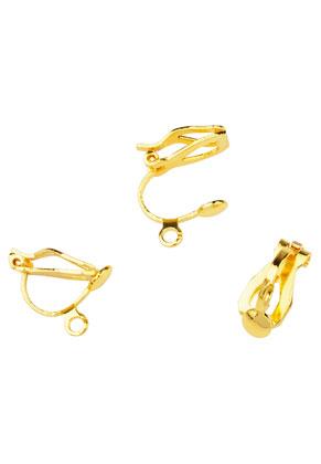 www.sayila.com - Brass ear clips with eye 13x11mm
