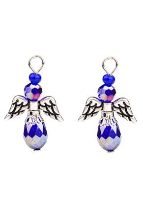 www.sayila.com - Metal and glass pendants/charms angel 31x29mm