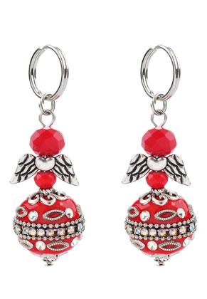 www.sayila-perlen.de - Engel Anhänger mit Kashmiri Perle 60x20mm