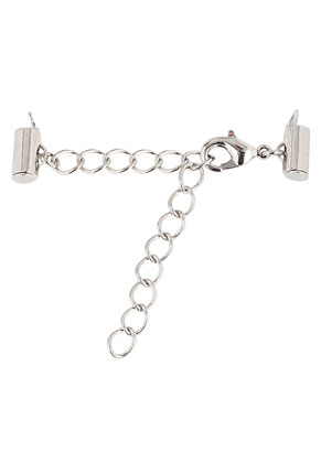 www.sayila.com - Metal slide end tube clasps with extension chain 3-10x0,8cm