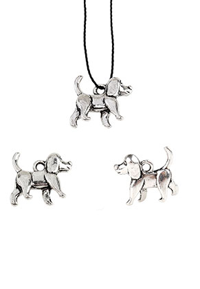 www.sayila.nl - Metalen hangers/bedels hond 16x14mm
