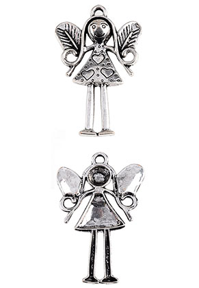 www.sayila.com - Metal pendant angel 57x35mm