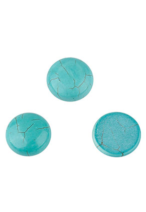 www.sayila.nl - Natuursteen plakstenen/cabochons Turquoise Howlite rond 16mm