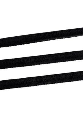 www.sayila.es - Cordón de cuero artificial cosido con brillo metálico 200cm, 6mm de espesor