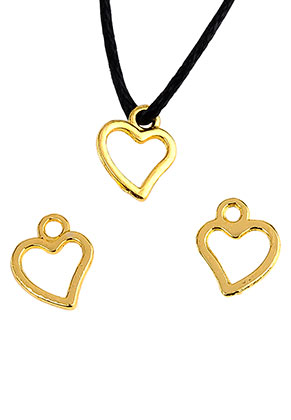 www.sayila.com - Metal pendants/charms heart 10x8mm