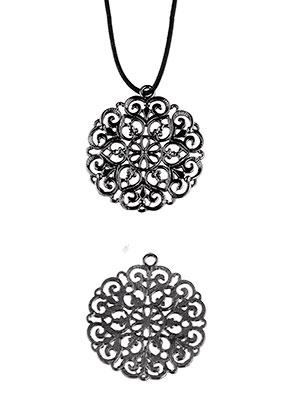www.sayila.com - Bohemian metal pendants 50x45mm