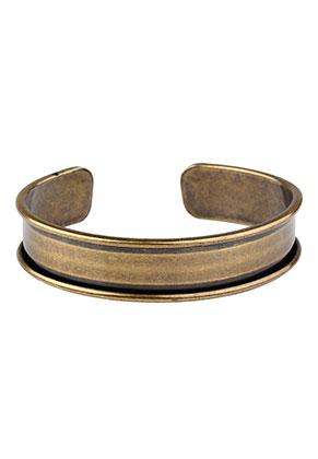 www.sayila.nl - Brass cuff armband blank 18cm, 1,5cm breed
