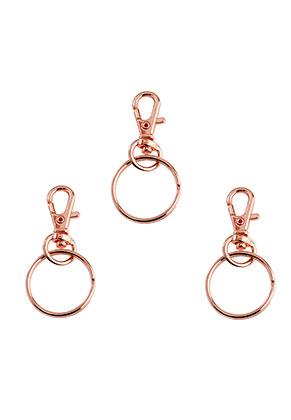 www.sayila-perlen.de - Metall Schlüsselanhänger mit Ring 54x25mm
