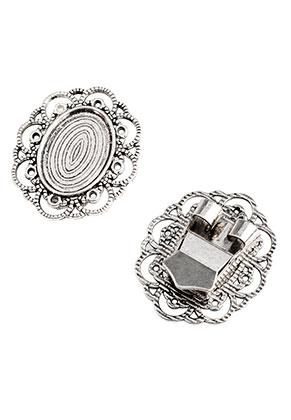 www.sayila.es - Cierre corredera bolo tie de metal 40,5x34,5mm con cuadro para 25x18mm piedra adhesiva
