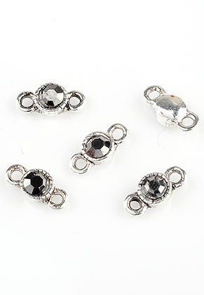 www.sayila.com - Metal connectors with strass 10x5mm