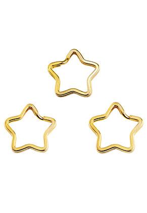 www.sayila.nl - Metalen sleutelhangerringen ster 34x32,5mm