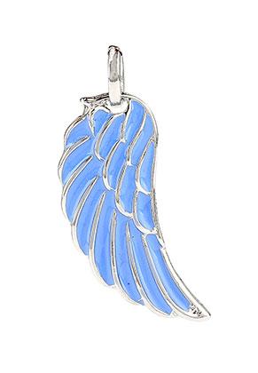 www.sayila-perlen.de - Metallanhänger mit Epoxy Flügel 45x16mm