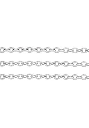 www.sayila.com - Stainless steel chain with 2,5x2mm links, flat