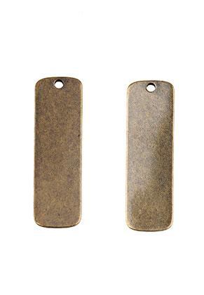 www.sayila.es - Colgantes/placas de grabado de metal rectángulo 35x11mm