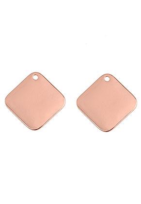 www.sayila.be - Metalen naamlabel hangers ruit 20x20mm