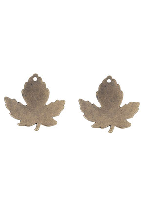 www.sayila.com - Metal name tag/label pendants leaf 34x33mm