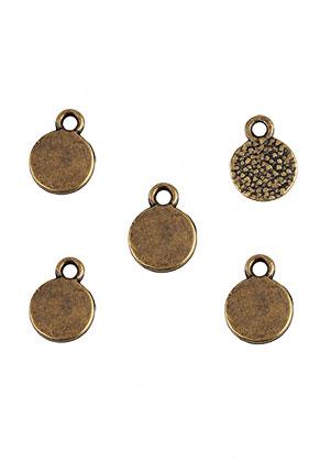www.sayila.es - Colgantes/dijes/placas de grabado de metal redondo 10x8mm