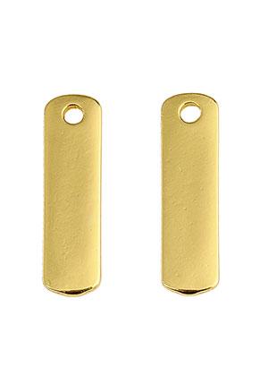 www.sayila.es - Colgantes/placas de grabado de metal rectángulo 22x6mm