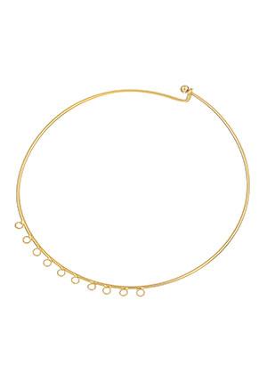 www.sayila.es - Collar rígido de brass 45cm (2mm de grueso) con ojos y cierre bola amovible