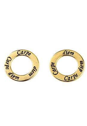 www.sayila.be - Metalen hangers/tussenzetsel ring Carpe diem 30x2mm