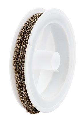 www.sayila.be - Metalen ketting met 2,5x2mm schakels (5 meter per rol)