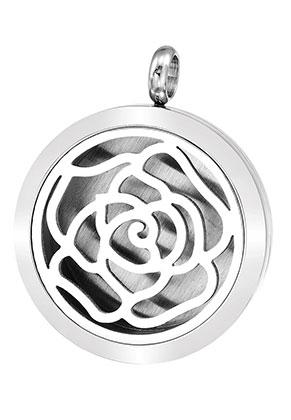 www.sayila.com - Stainless steel DoubleBeads EasySwitch pendant/perfume locket DQ 37x30mm for 21mm felt disc