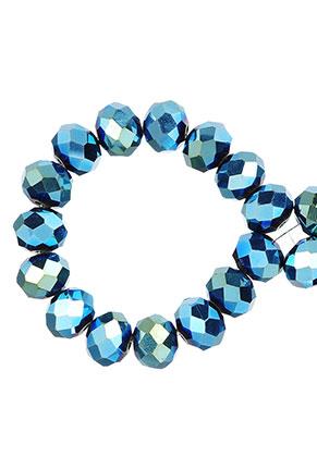 www.sayila-perlen.de - Glasperlen Rondelle facette geschliffen 10x8mm (± 55 St.)