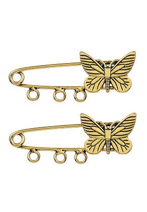 www.sayila.es - Broches con aguja/broches para seguridad de metal mariposa 48x18mm