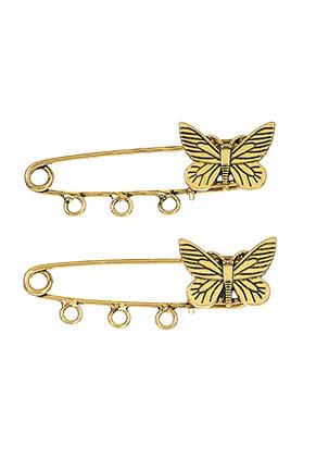 www.sayila.fr - Broches avec épingle/épingles de sûreté en métal papillon 54x20mm