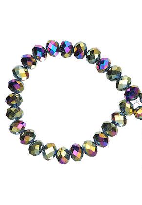 www.sayila.es - Abalorios de vidrio rondelle con facetas 6x5mm (± 90 pzs.)