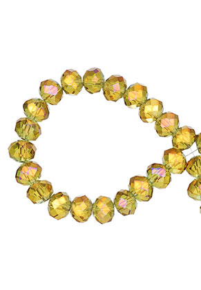 www.sayila.com - Glass crystal rondelle beads faceted 8x6mm (± 60 pcs.)