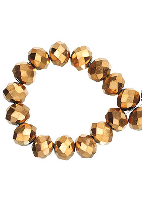 www.sayila-perlen.de - Glasperlen Kristall Rondelle facette geschliffen 10x8mm (± 60 St.)