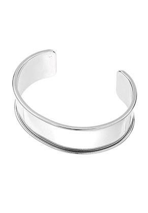 www.sayila.fr - Bracelet manchette en brass blanc 20cm, 2,5cm largeur