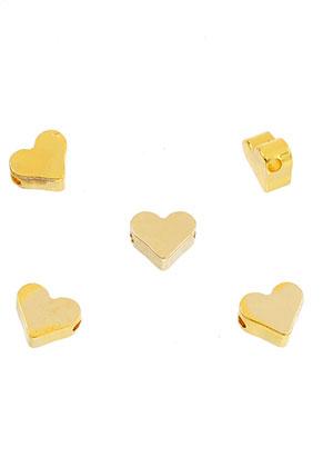 www.sayila.nl - Brass kralen hartje 7x6mm