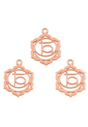 www.sayila.com - Metal Chakra pendants/charms Svadhisthana 23x19mm