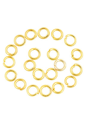 www.sayila.com - Metal jump rings round 4mm (± 200 pcs.)