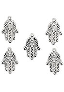 www.sayila.com - Metal pendants/charms hand of Fatima 24x15mm - D24196