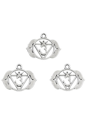 www.sayila.com - Metal Chakra pendants/charms Ajna 22x17mm